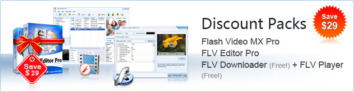 FLV kits Special Offer -- Convert video to Flash, FLV encoder, FLV to video