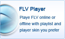 Playe FLV online or offline with playlist and player skin you prefer