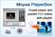 Create player and publish FLV online with playlist