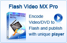 Encode Video/DVD to Flash and publish with unique player
