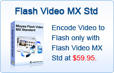 Encode Video to Flash only with Flash Video MX Std at $59.95.