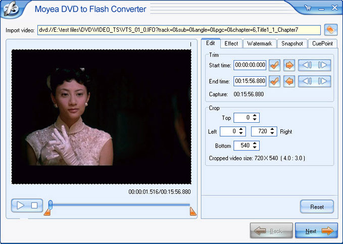 Convert  DVD to Flash (SWF)