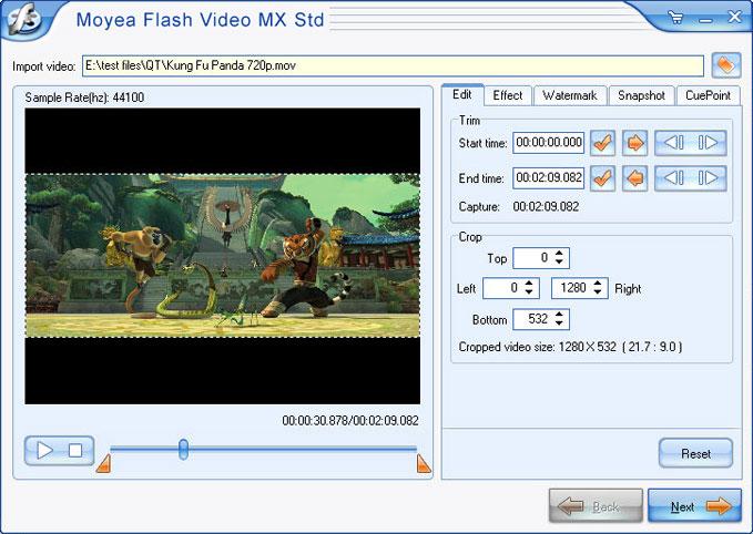 Convert video to  Flash (SWF)