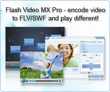 Flash Video MX Pro - encode video to FLV/SWF and play different!